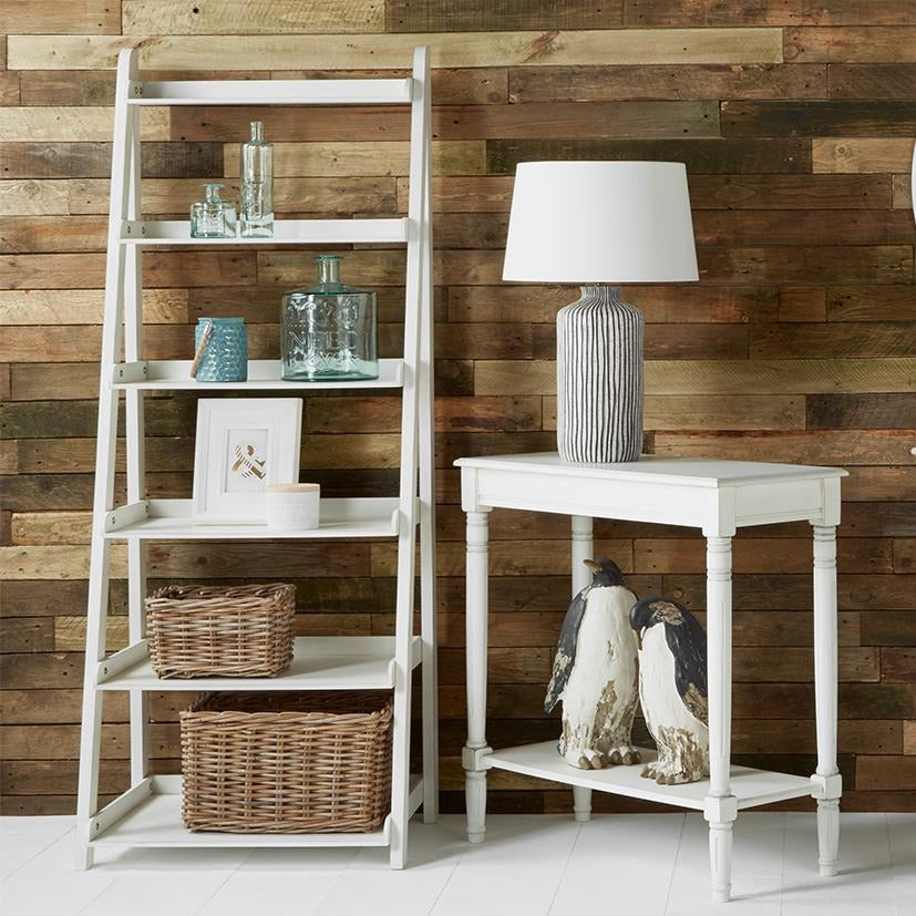 White Pine Wood 6 Tier Bookcase - Perfectly Home Interiors