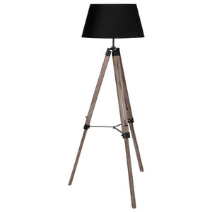 Wooden Tripod Floor Lamp with Shade - Perfectly Home Interiors
