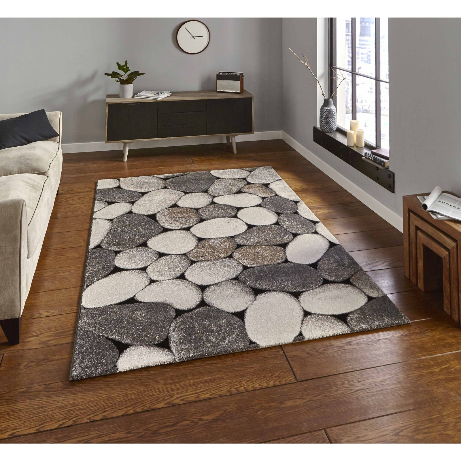 Woodland 2099 Cream/Grey Rug - Perfectly Home Interiors