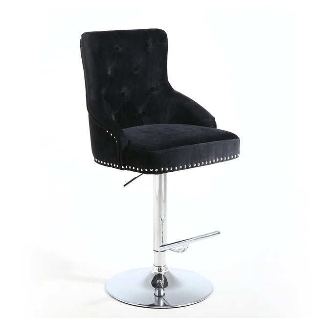Luxury Chaise Bar Stool in Black - Perfectly Home Interiors