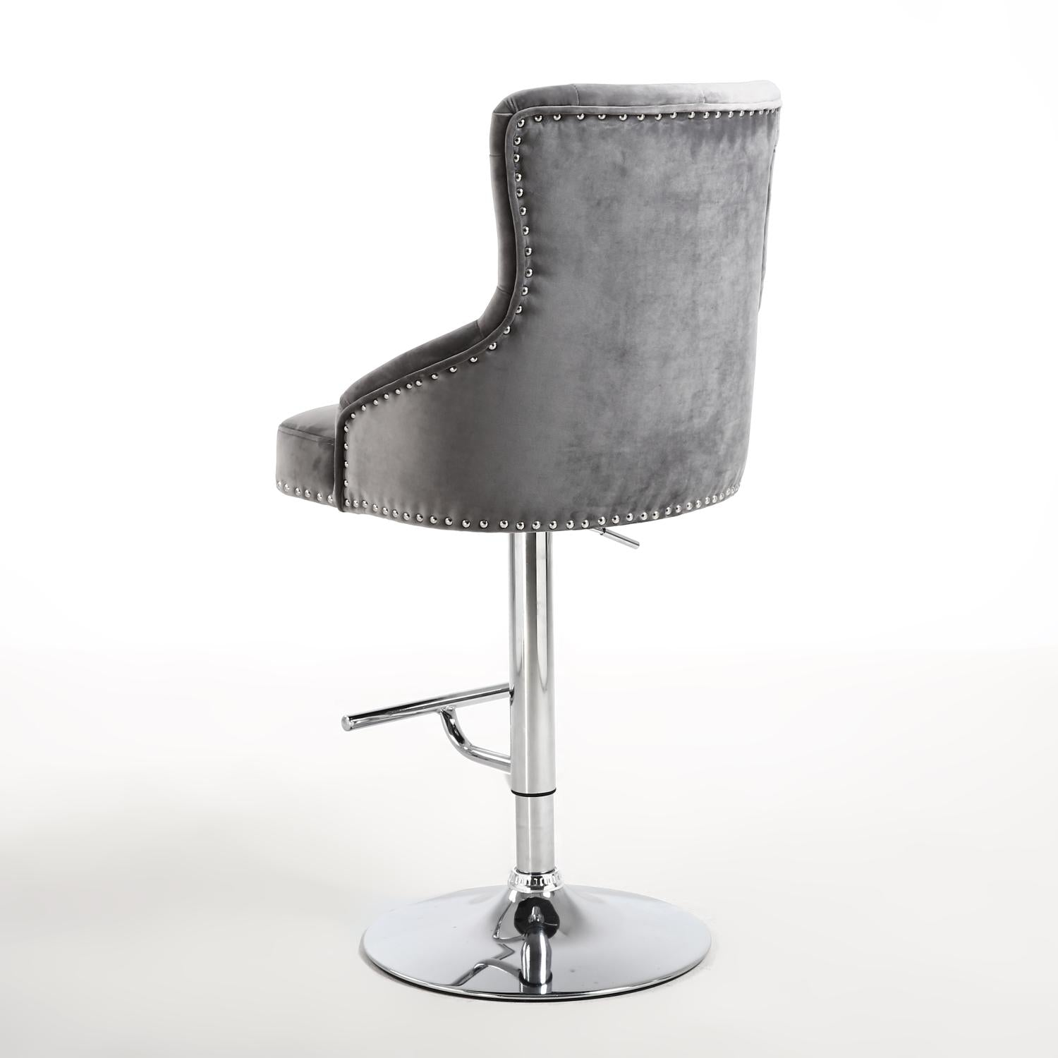 Luxury Chaise Bar Stool in Grey - Perfectly Home Interiors