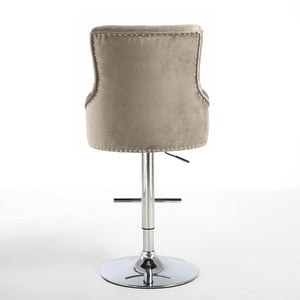 Luxury Chaise Bar Stool in Mink - Perfectly Home Interiors