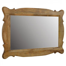 Hand Carved Oblong Mirror - Perfectly Home Interiors