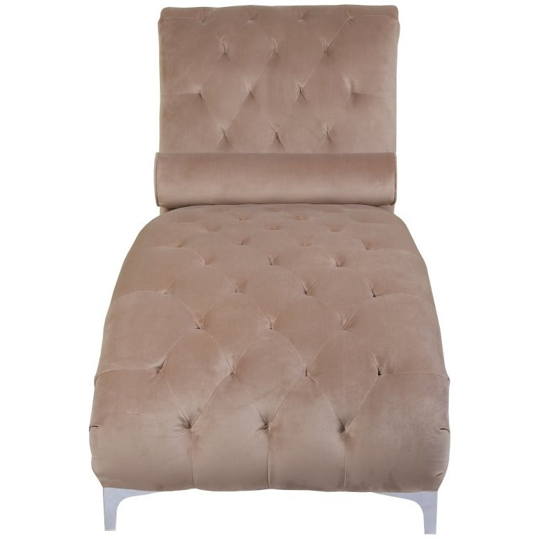Mink Brushed Velvet Luxury Chaise