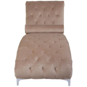 Mink Brushed Velvet Luxury Chaise - Perfectly Home Interiors