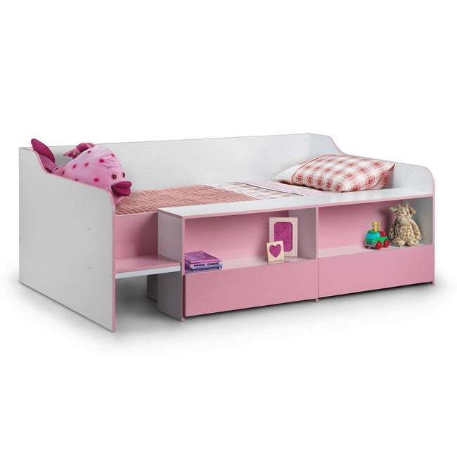 Low Sleeper Pink Child's Bed - Perfectly Home Interiors