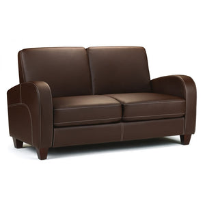 Vivo Sofabed in Chestnut Faux Leather - Perfectly Home Interiors