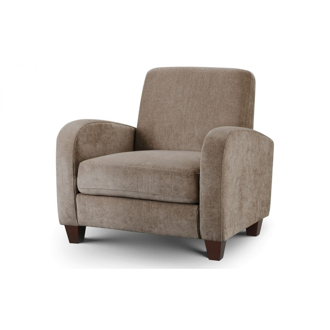 Vivo Chair in Mink Chenille - Perfectly Home Interiors