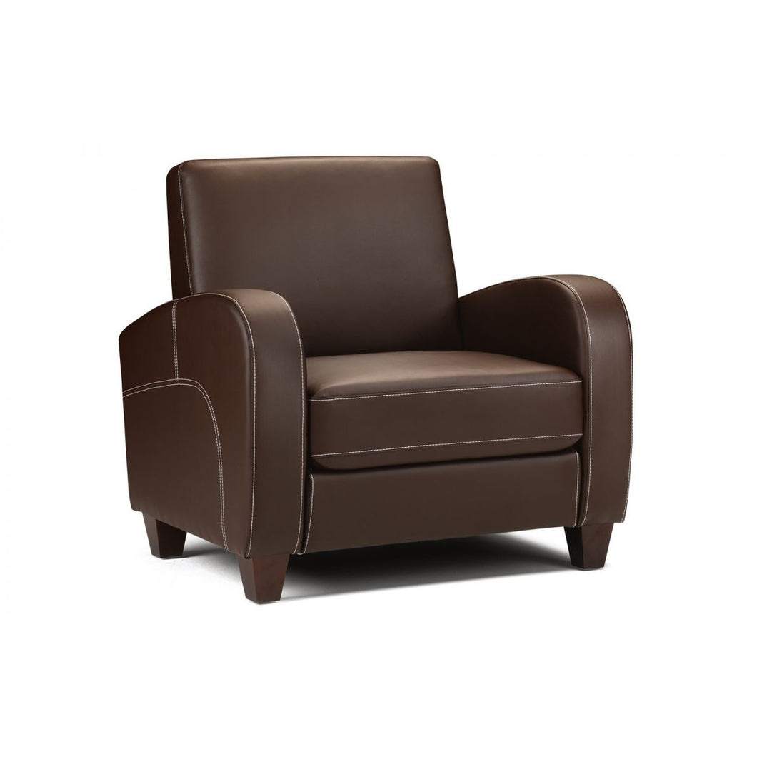 Vivo Chair in Chestnut Faux Leather - Perfectly Home Interiors