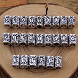 24pcs Set Viking Runes for Beards or Hair