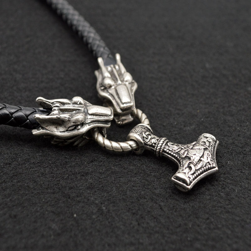 Dragon Necklace With Mjolnir