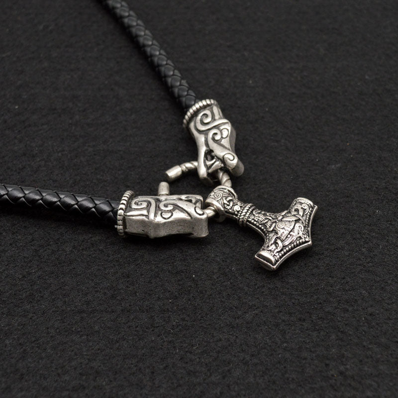 Fenrir Necklace With Mjolnir