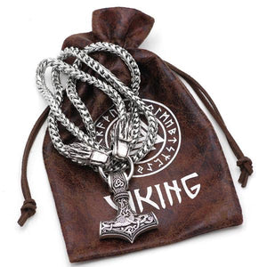King's Chain Wolf Heads Thor's Hammer