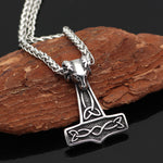 Thor's Hammer With Goat Head Necklace