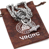 King Chain With Berserker Holding A Mjolnir Pendant