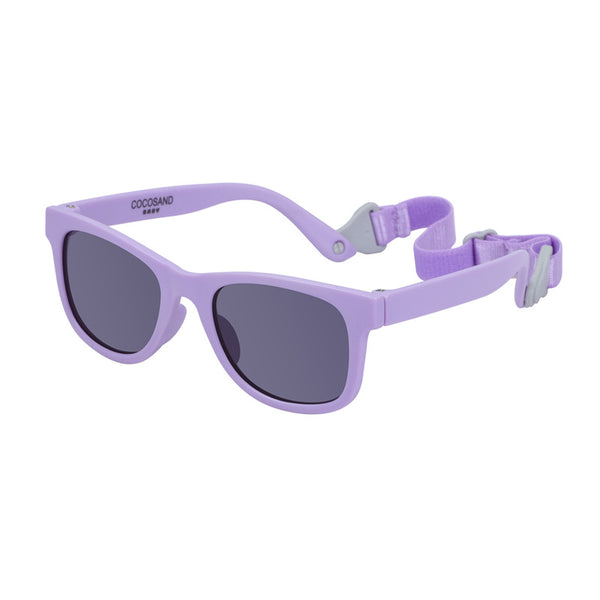 COCOSAND Classic Baby Sunglasses for 0-24months, Purple