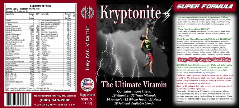 Kryptonite Product Label