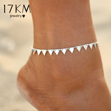 17KM 3 Style New Triangle Geometry Anklet Foot Chain Anklet Summer Bracelet Charm Anklet Tassel Sandals Beach Foot Jewelry Gift