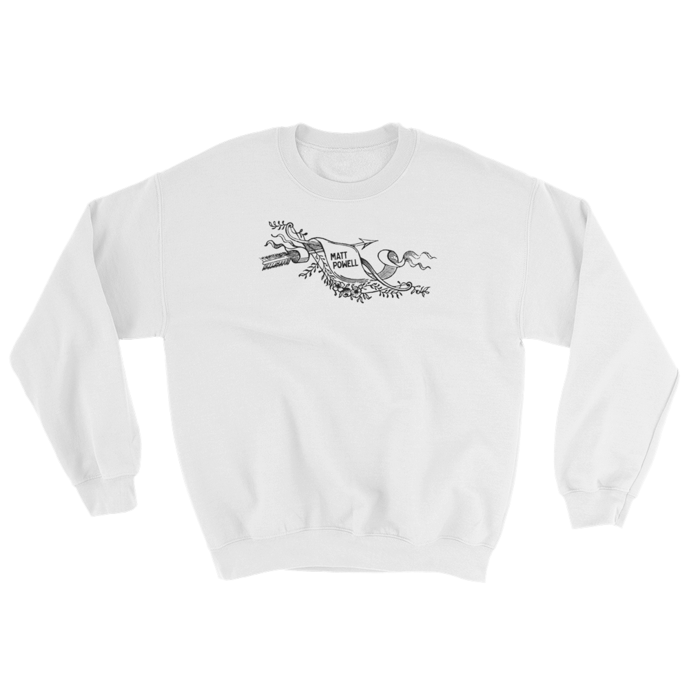 Black Scroll Sweatshirt