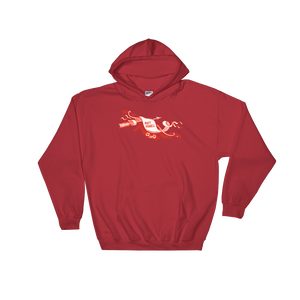 Red Scroll Hoodie