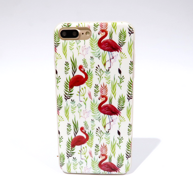 Flora Flamingo White Case