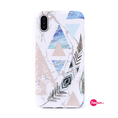 Polygon Feather Marble Case