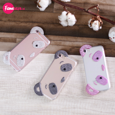 Panda Face 3D Iphone Case