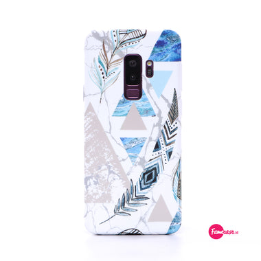 Polygon Feather Marble Samsung Case