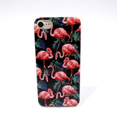 Flora Flamingo Black Case