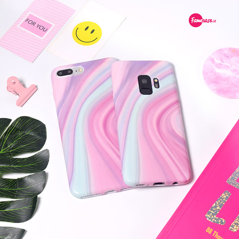Pink Canyon Marble Samsung Case