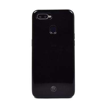 Shining Jet Black Plain Oppo Case
