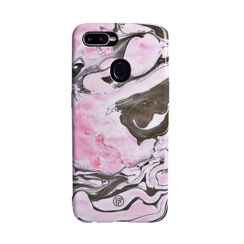 Black Pink Marble Oppo Case