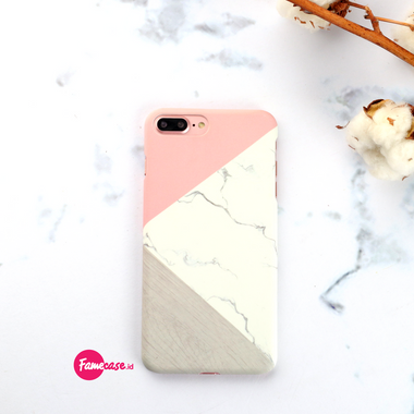 Pink Pastel Block Marble Iphone Case