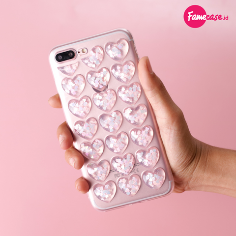Pink Icy Heart 3D Iphone Case