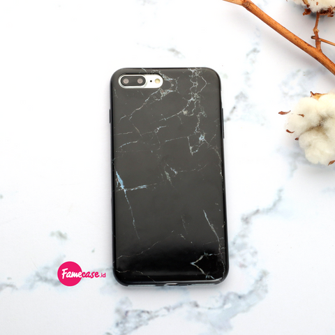 Black Classic Marble Iphone Case