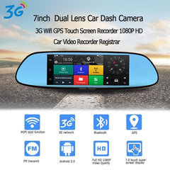 Dash Cam 3G 7-inch Car Mirror Camera