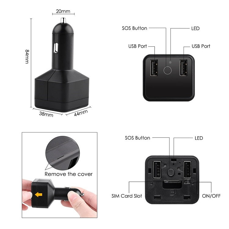 Mini GPS Tracker with USB Charging Ports