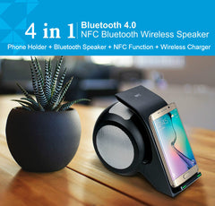 Fast Wireless QI Charger with Bluetooth Speaker