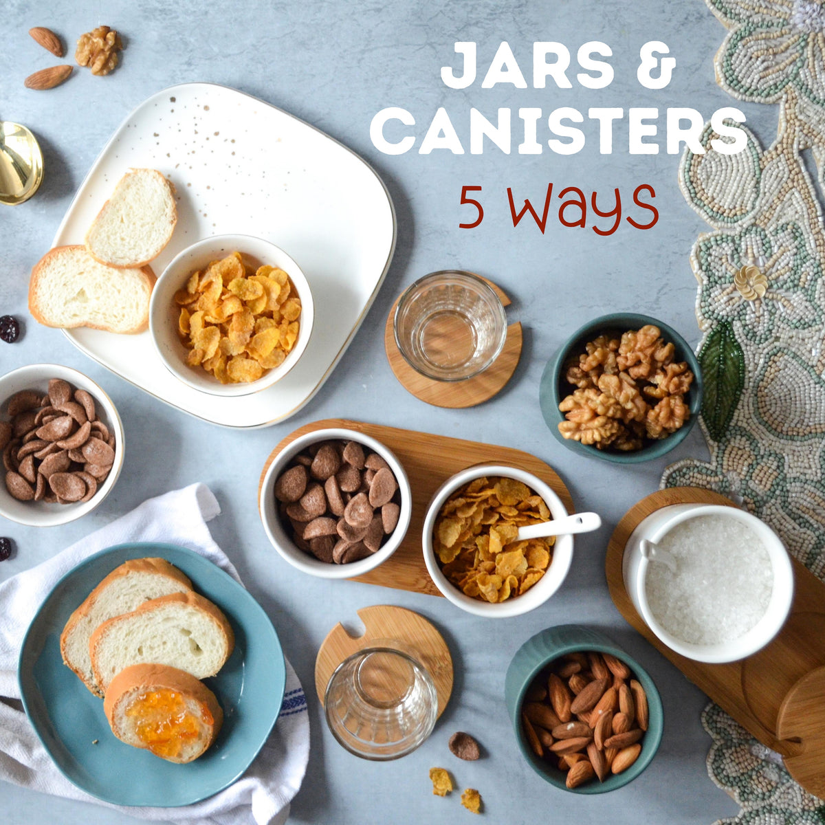 Jars & Canisters: 5 Ways