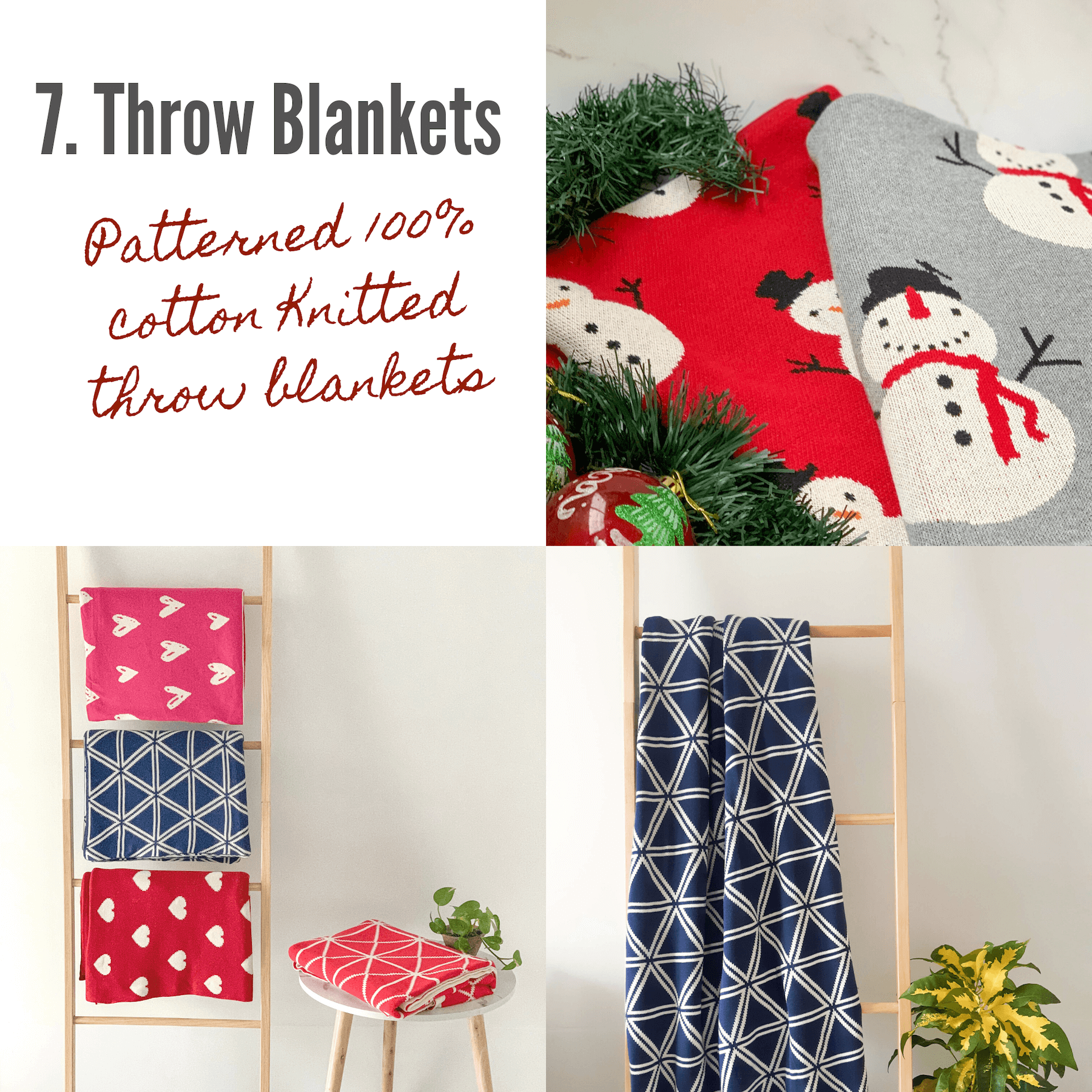 100% cotton throw blankets festive gift guide holiday gifting ideas