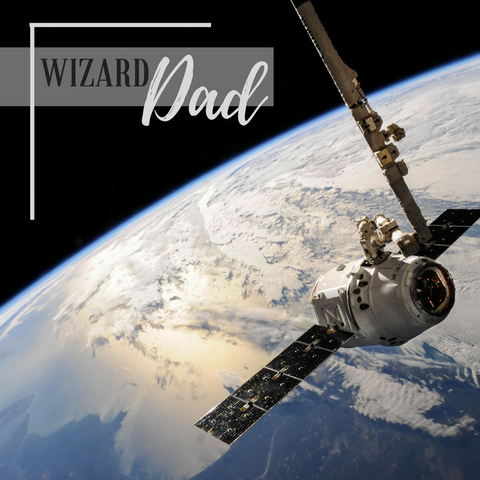 wizard dad image space with satellite