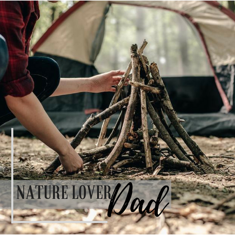 Nature lover dad image campfire