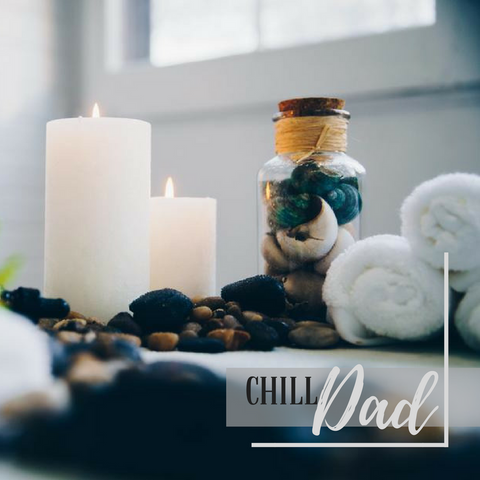 chill dad image of spa and candles
