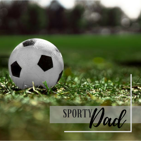 sporty dad football match
