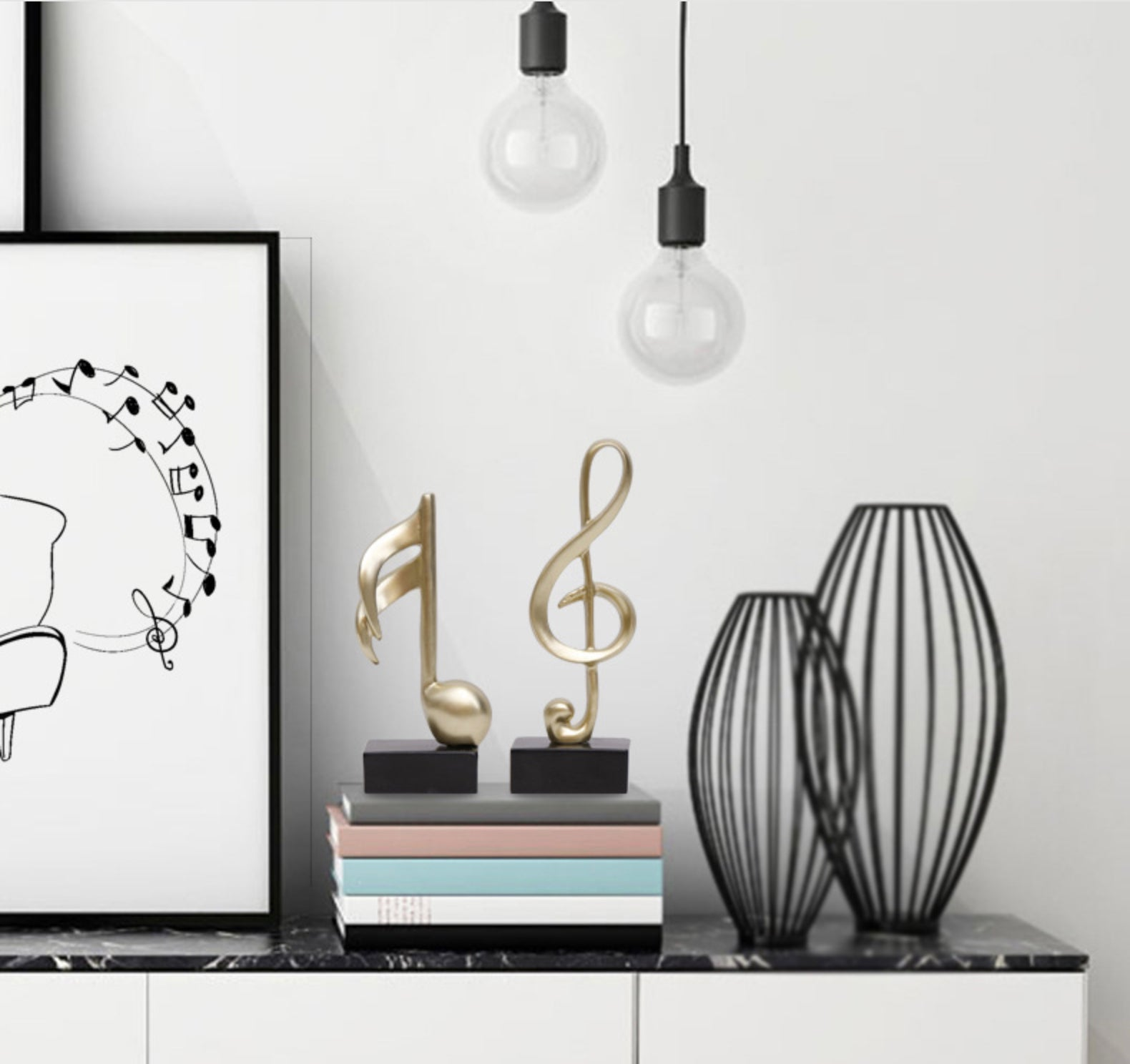 musical notes show piece