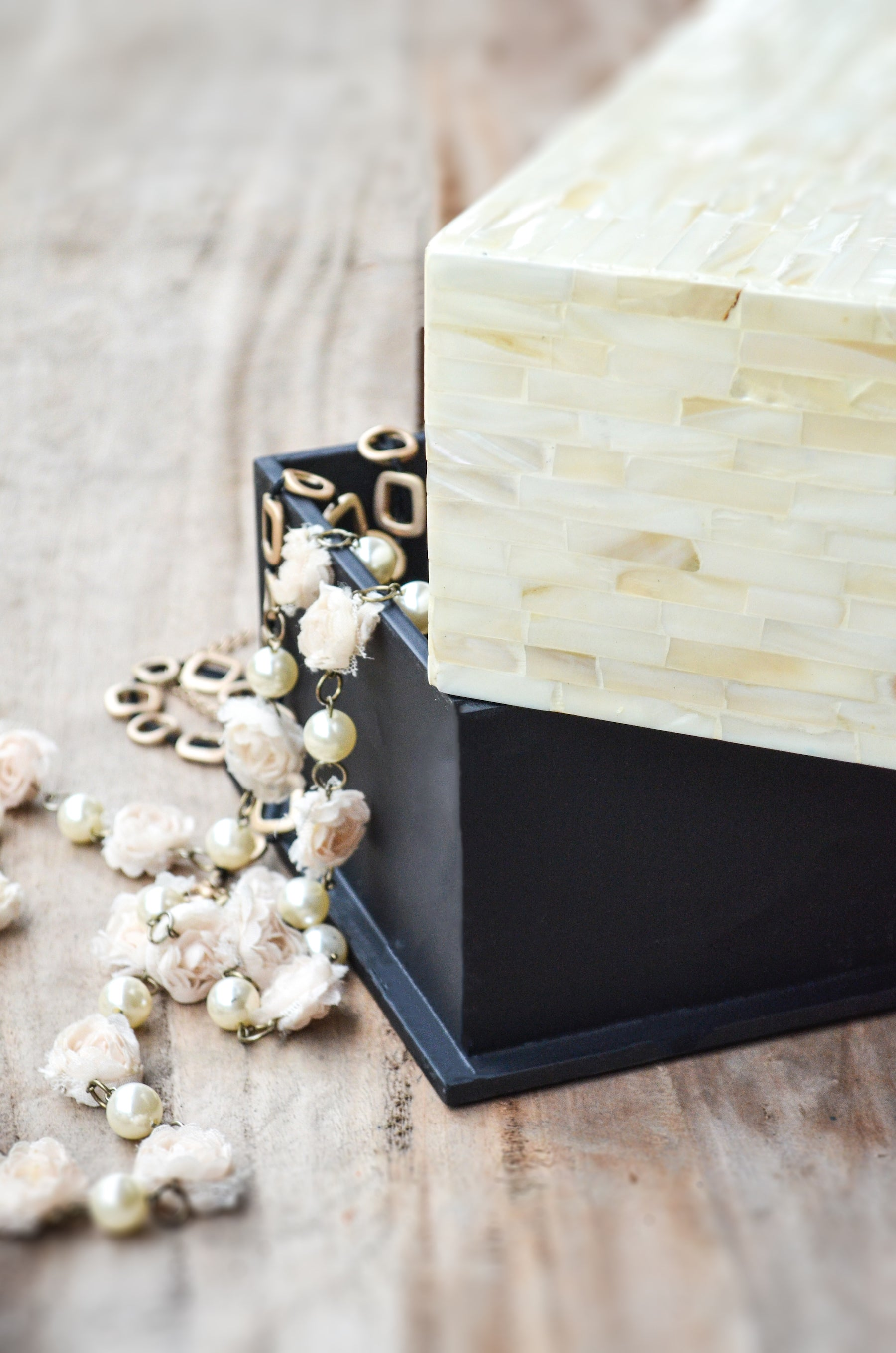 Mother of Pearl Rectangle Box