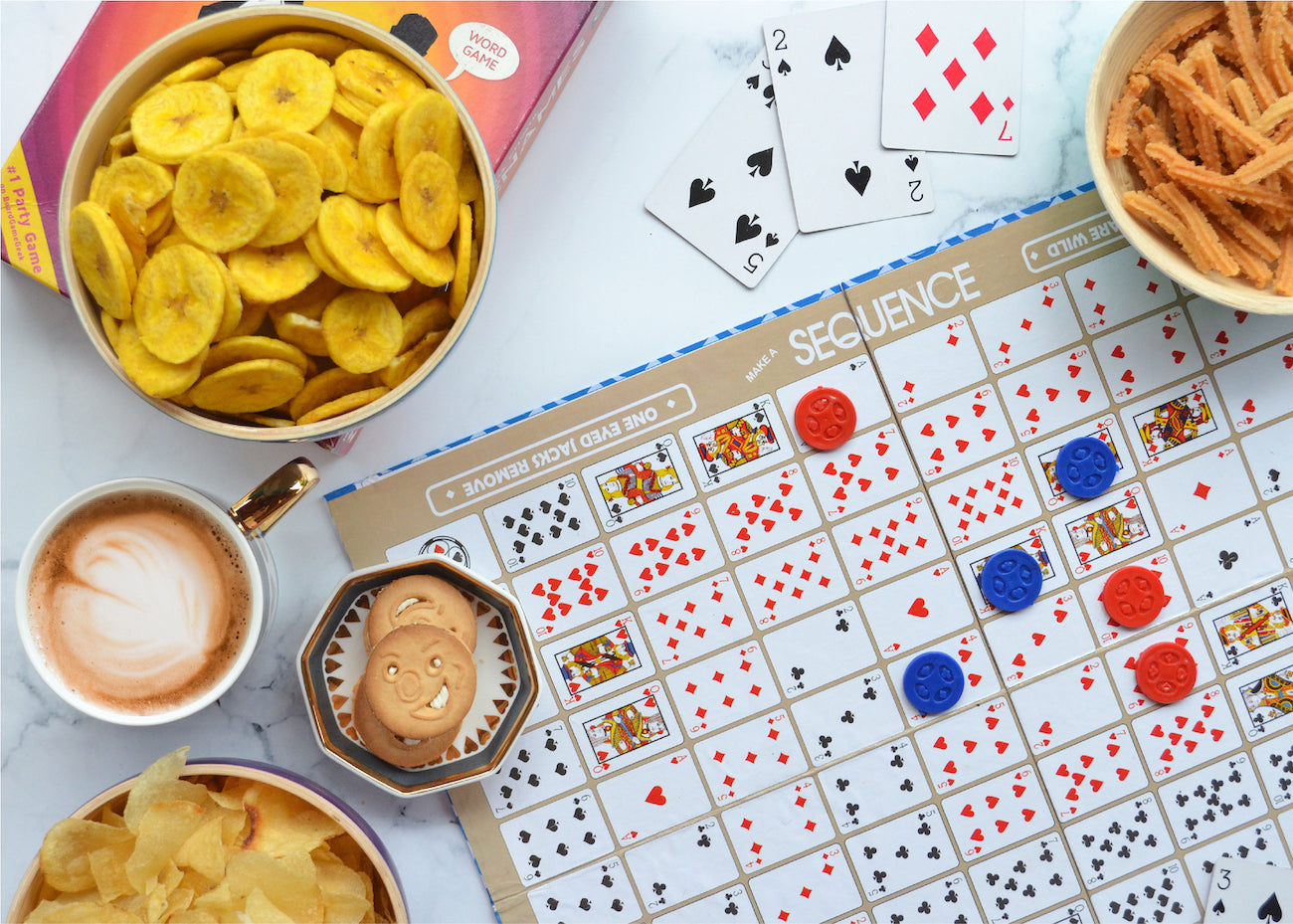 Board Games and Snacks
