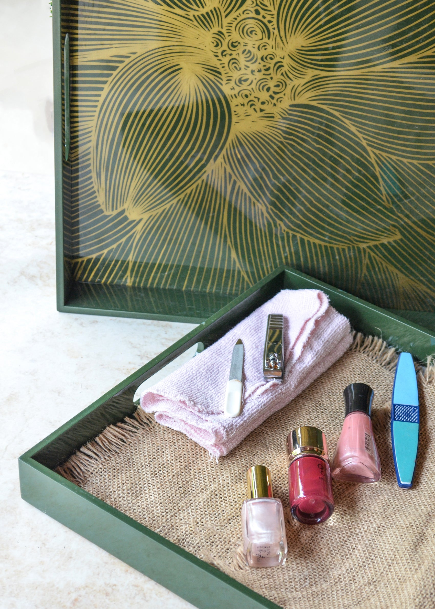 Mothers Day Gift - Olive Green Lacquer Tray