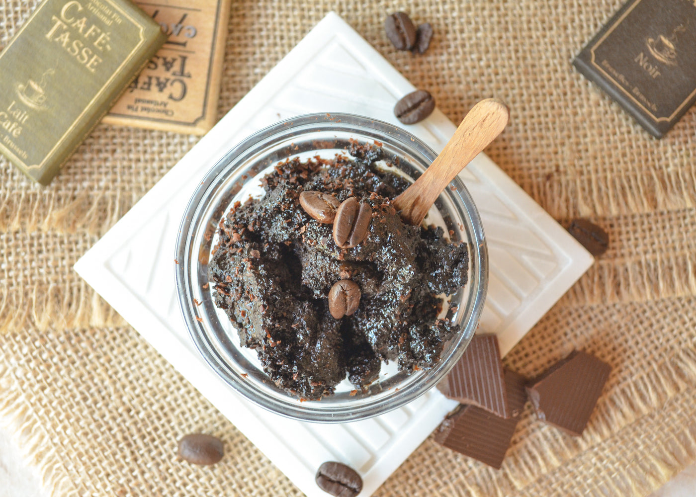 coffee banana scrub