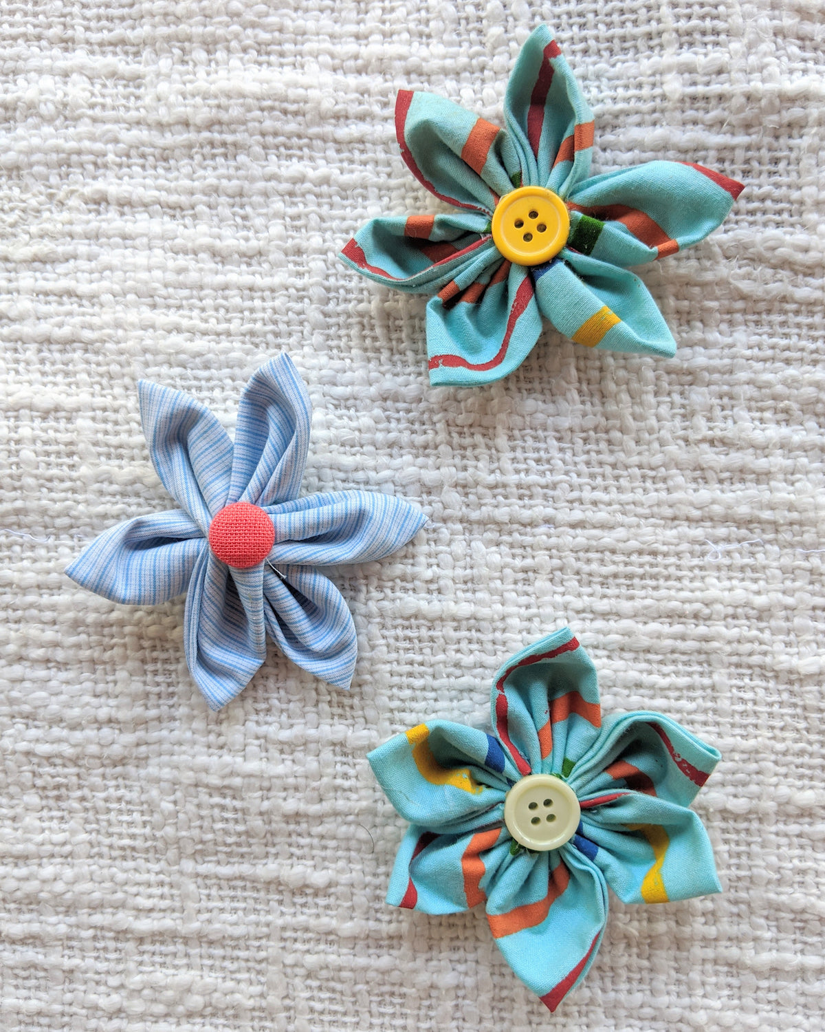 flower embellishments with fabric